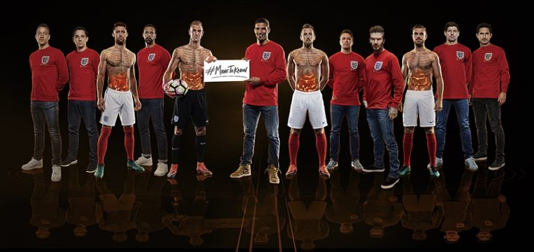 Footballers supporting bowel cancer campaign
