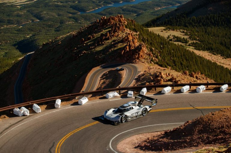 Electric car beats lap record for Pikes Peak hillclimb