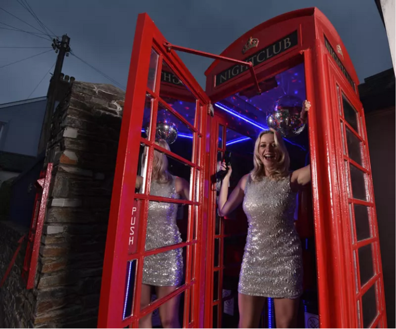One of Britains red phone boxes has become a disco